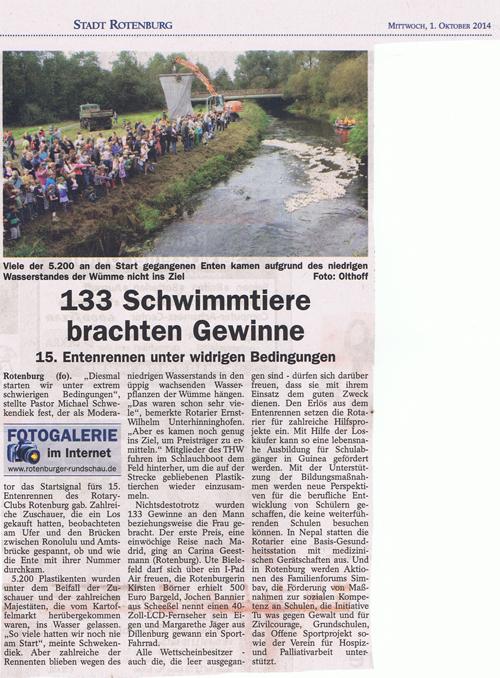 PR Bericht Entenrennen