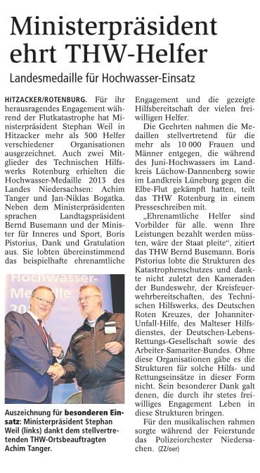 Zevener Zeitung, 21.10